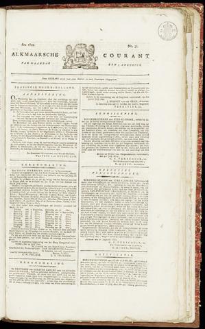 Alkmaarsche Courant 1822-08-05