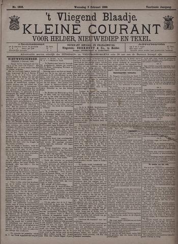 Vliegend blaadje : nieuws- en advertentiebode voor Den Helder 1886-02-03