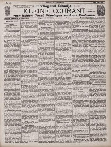 Vliegend blaadje : nieuws- en advertentiebode voor Den Helder 1912-08-07