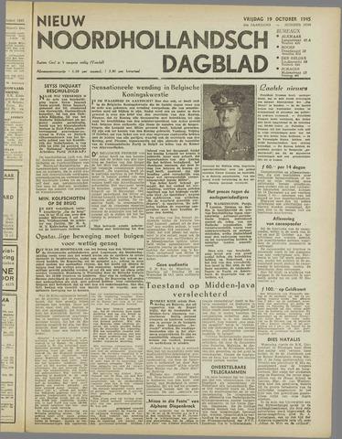 Nieuw Noordhollandsch Dagblad : voor Alkmaar en omgeving 1945-10-19