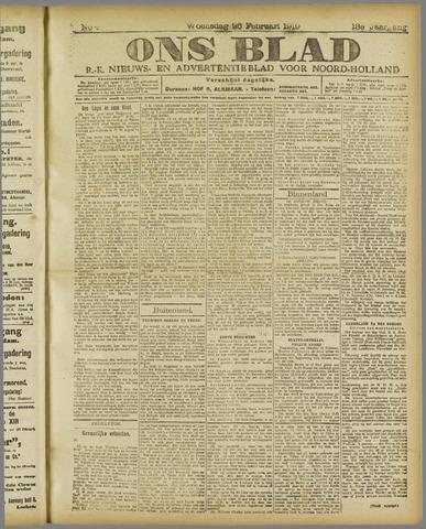 Ons Blad : katholiek nieuwsblad voor N-H 1919-02-26