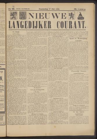 Nieuwe Langedijker Courant 1924-07-17