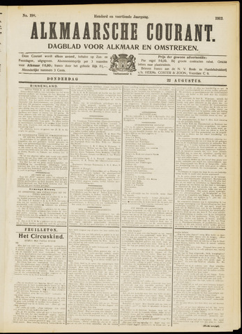 Alkmaarsche Courant 1912-08-22