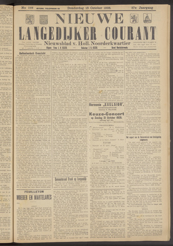 Nieuwe Langedijker Courant 1928-10-18