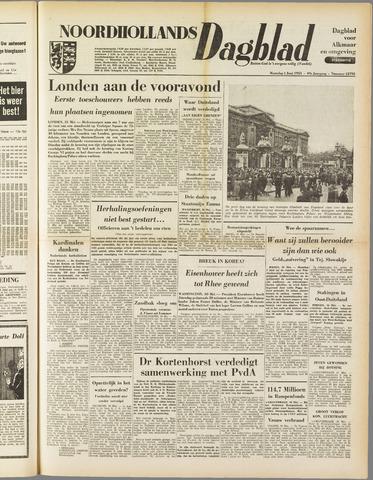 Noordhollands Dagblad : dagblad voor Alkmaar en omgeving 1953-06-01