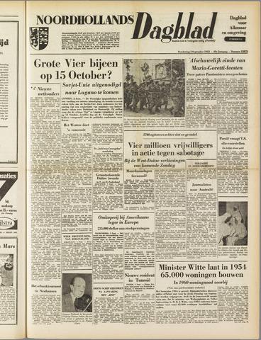 Noordhollands Dagblad : dagblad voor Alkmaar en omgeving 1953-09-03