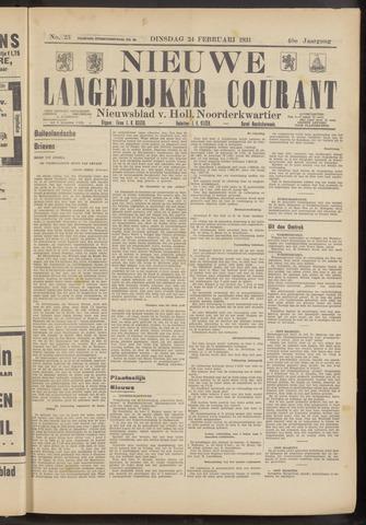 Nieuwe Langedijker Courant 1931-02-24