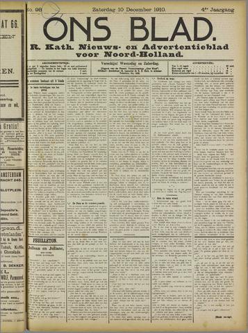 Ons Blad : katholiek nieuwsblad voor N-H 1910-12-10