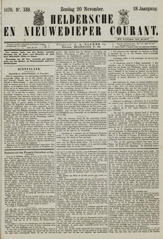 Heldersche en Nieuwedieper Courant 1870-11-20