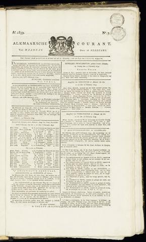 Alkmaarsche Courant 1839-02-18