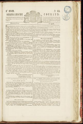 Alkmaarsche Courant 1849-04-09