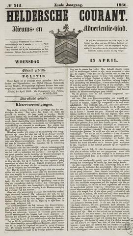 Heldersche Courant 1866-04-25