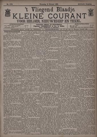 Vliegend blaadje : nieuws- en advertentiebode voor Den Helder 1890-02-12