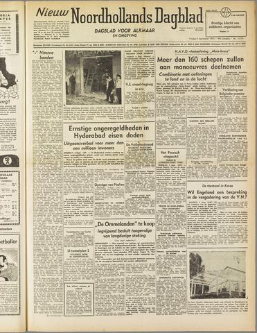 Nieuw Noordhollandsch Dagblad : voor Alkmaar en omgeving 1952-09-05