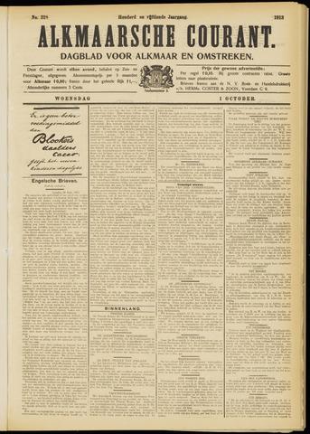 Alkmaarsche Courant 1913-10-01