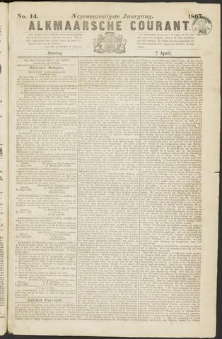 Alkmaarsche Courant 1867-04-07