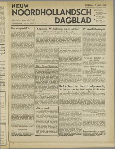 Nieuw Noordhollandsch Dagblad : voor Alkmaar en omgeving 1945-07-07