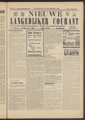 Nieuwe Langedijker Courant 1931-12-12