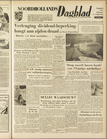 Noordhollands Dagblad : dagblad voor Alkmaar en omgeving 1953-01-28