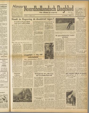 Nieuw Noordhollandsch Dagblad : voor Alkmaar en omgeving 1947-02-05