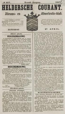 Heldersche Courant 1867-04-27