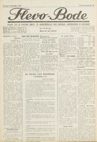 Flevo-bode: nieuwsblad voor Wieringen-Wieringermeer 1949-09-10