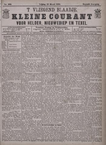 Vliegend blaadje : nieuws- en advertentiebode voor Den Helder 1881-03-18