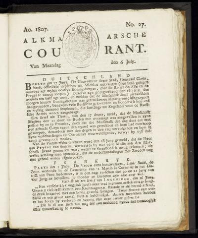 Alkmaarsche Courant 1807-07-06