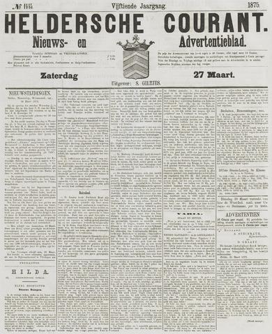 Heldersche Courant 1875-03-27