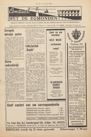 Contact met de Egmonden 1964-03-25
