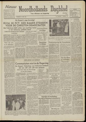 Nieuw Noordhollandsch Dagblad : voor Alkmaar en omgeving 1948-04-21