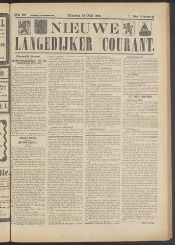 Nieuwe Langedijker Courant 1925-07-28