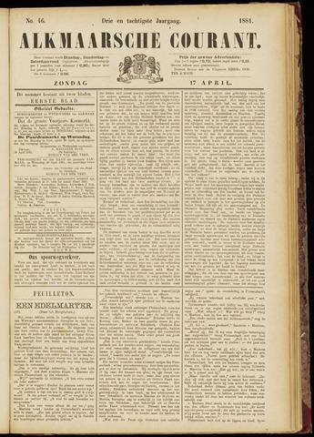 Alkmaarsche Courant 1881-04-17