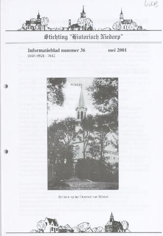 Informatieblad stichting Historisch Niedorp 2001-05-01