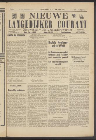 Nieuwe Langedijker Courant 1933-01-10