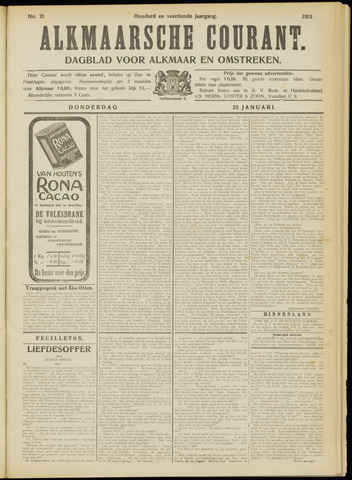 Alkmaarsche Courant 1912-01-25