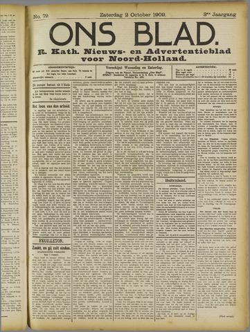 Ons Blad : katholiek nieuwsblad voor N-H 1909-10-02