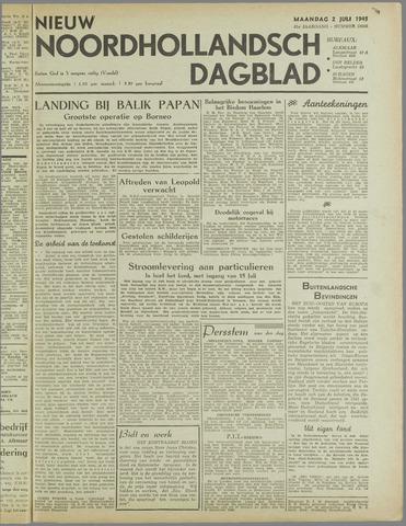 Nieuw Noordhollandsch Dagblad : voor Alkmaar en omgeving 1945-07-02