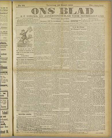 Ons Blad : katholiek nieuwsblad voor N-H 1919-03-22