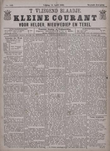 Vliegend blaadje : nieuws- en advertentiebode voor Den Helder 1881-04-15