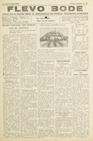 Flevo-bode: nieuwsblad voor Wieringen-Wieringermeer 1946-06-22