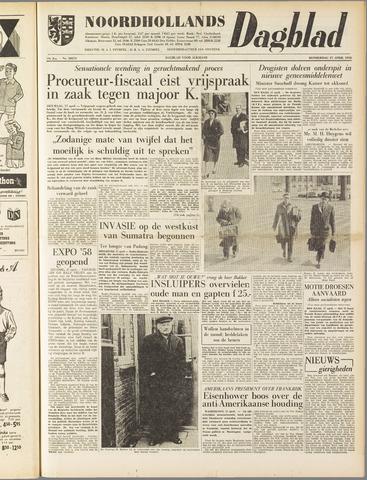 Noordhollands Dagblad : dagblad voor Alkmaar en omgeving 1958-04-17
