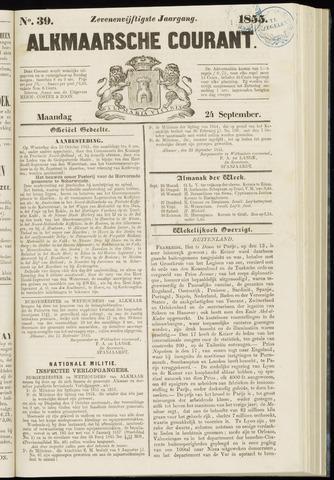 Alkmaarsche Courant 1855-09-24