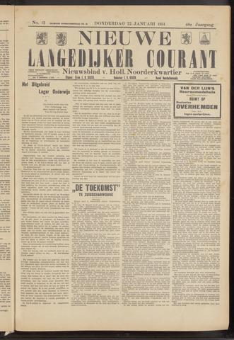 Nieuwe Langedijker Courant 1931-01-22