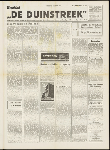 De Duinstreek 1956-09-21