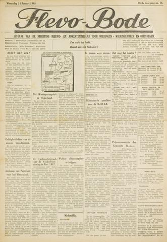 Flevo-bode: nieuwsblad voor Wieringen-Wieringermeer 1948-01-14