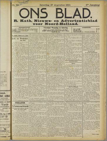 Ons Blad : katholiek nieuwsblad voor N-H 1910-08-28