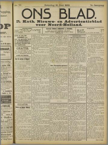 Ons Blad : katholiek nieuwsblad voor N-H 1913-06-21