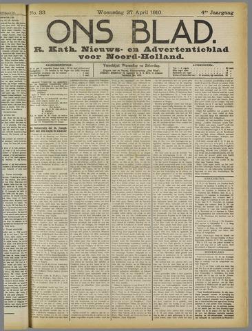 Ons Blad : katholiek nieuwsblad voor N-H 1910-04-27