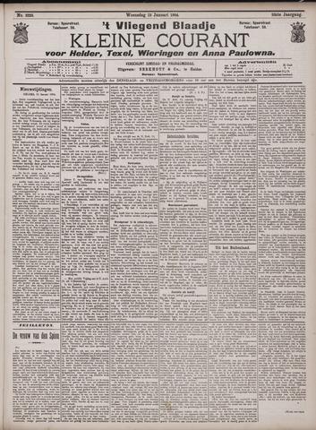 Vliegend blaadje : nieuws- en advertentiebode voor Den Helder 1904-01-13
